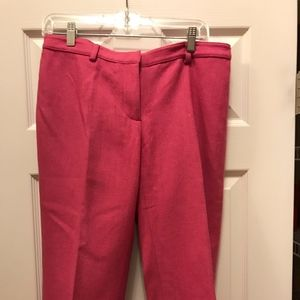 Lilly Pulitzer Pink Wool Capri Pants size 6
